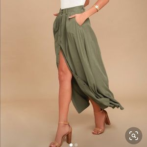 Pistola Button Up Maxi Skirt